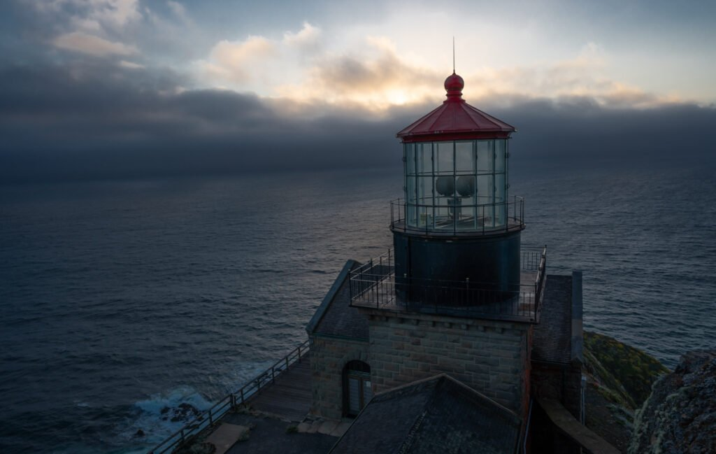 Point Sur Lighthouse at Sunset - Website Design & Photography Based in Chico, CA